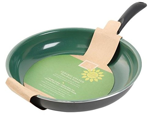Gibson 62409.01 Home Hummington Eco-Friendly 8-Inch Ceramic Non Stick Fry Pan, Multi-Size, Green