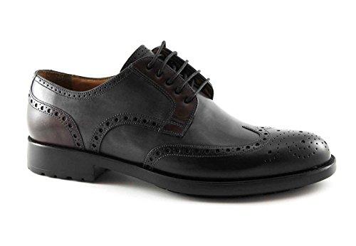 chaussures Melluso noir homme U81120 derby élégant embout en cuir anglais Nero