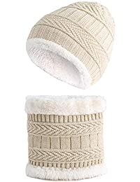 Tukistore Bambino Maglia cappello + sciarpa scaldacollo cappello invernale  caldo bambino in morbida fodera di lana f1f0ef6653a1