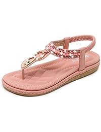 Amazon.es: Moda Boho - Rosa: Zapatos y complementos