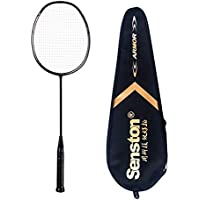 Senston N80YTP Full Carbon Graphite Badminton Racket,One Joint Lightweight Graphite Single Badminton Racquet,Including Premium Quality Badminton Bag