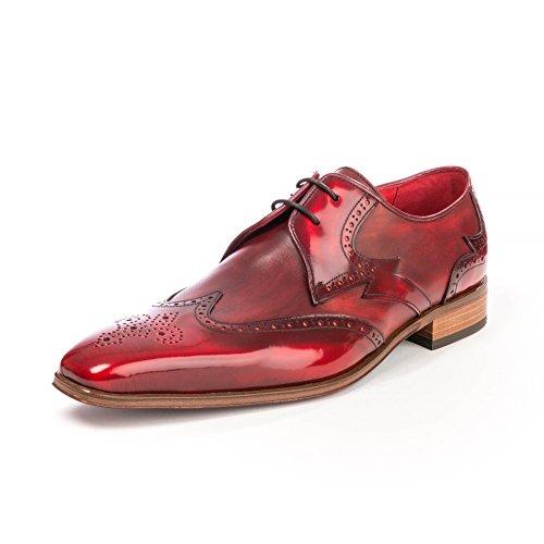 Jeffery West K106, Zapatos de Cordones Oxford para Hombre, Red (Burgundy Burgundy), 41 EU