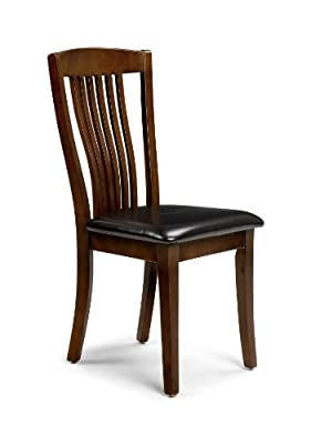 Julian Bowen Canterbury Dining Chairs, Mahogany Finish, Set of 2 - low-cost UK light shop.