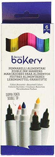 Decora Pennarelli Doppia Punta, Multicolore - Confezione da 6