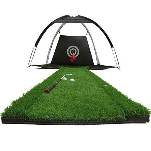 YDXYZ Golf Übungsnetz Schlagnetz for Hinterhof Tragbare Driving Range Golfkäfig Indoor Golfnetz Trainingshilfen mit Ziel Indoor Verdickung Pad Training Personal Grass Teppich -