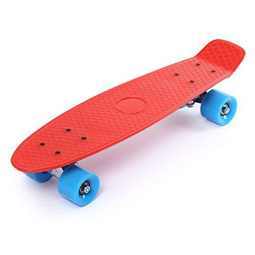 sakj-b 22 Zoll Allrad Straße Lang Skate Board Mini Cruiser Skateboard Für Erwachsene Kinder Klassische Retro Mini Cruiser 11 Farbe