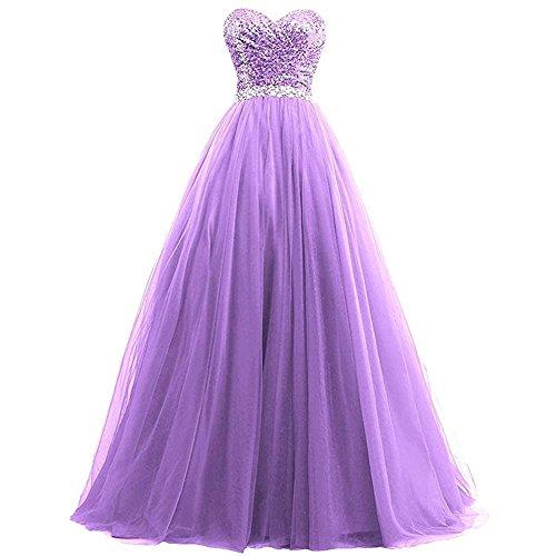 Purple Christmas Holiday Kleid (kleider frauen chiffon abend hochzeit braut brautjungfern party geburtstag bankett sequins long dress . purple . us6)