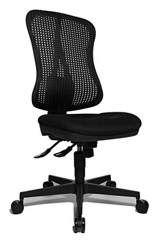 Topstar Head Point SY ergonomischer Bürostuhl, Schreibtischstuhl, Muldensitz (höhenverstellbar), Stoffbezug schwarz