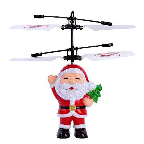 Prevently Weihnachtsmann Flugzeuge,RC Fliegender Ball Top Elektrisch Infrarotsensor Fliegender Ball Vater Weihnachtshubschrauber LED Leichtes Spielzeug (Top Rc Hubschrauber)