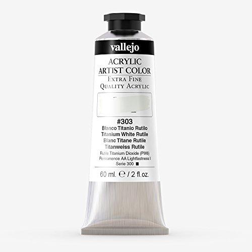 3939232261e6a Vallejo : Artist Acrylic Paint : 60ml : Titanium White Rutile
