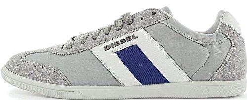Diesel Happy Hours Vintagy Lounge Gris Blue Daim Hommes Formateur Chaussures
