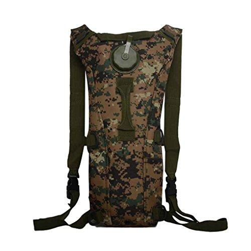 3L Tactical Rucksack Wassertasche Hydration Flasche Beutel Tasche f¨¹r Camping Wandern Armeegr¨¹n