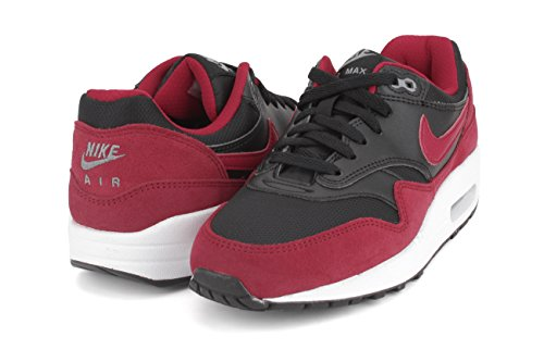 Nike Air Max 1 (GS) - 555766-048 - black, gym red-white-cool grey