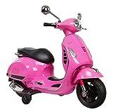 Shov Original Lizenz Vespa Kindermotorrad Kinderfahrzeug Elektro Motorrad Elektroroller (Pink)