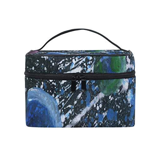 Tragbare hängende Make-up Kosmetiktasche Tasche,Makeup Bag Da Wonders of The Solar System Cosmetic Bag Portable Large Toiletry Bag for Women/Girls Travel