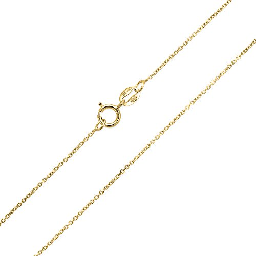 Diamond Kabel Kette Halskette 2 MM Dünn 20 Gauge Für Damen 14K Vergoldet Sterling Silber Hergestellt In Italien 18 Zoll