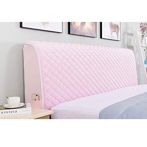Stepp Bed Headboard Protector All-inclusive Waschbare Staubdichte Abdeckung Für Schlafzimmer Dekor,Lightpink-220 * 75cm ()