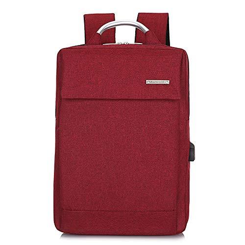 YHM Laptop Rucksack Slim Lightweight Fashion Schultasche USB Ladeanschluss Durable Männer Frauen Wasserdicht Business Casual Für College Travel,Rot