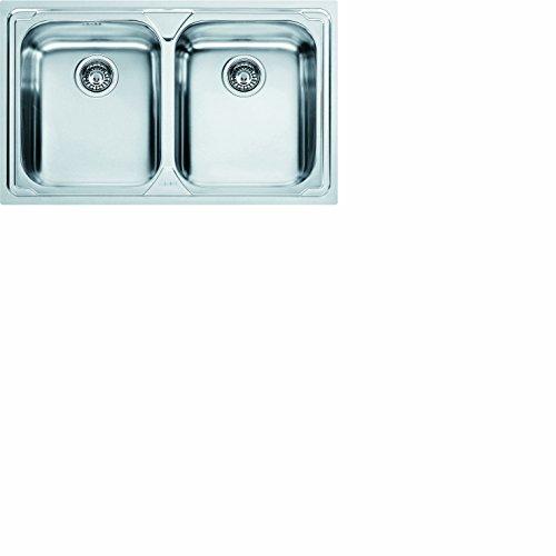 Franke 620-79 Logica LLX 620 - 79 101.0153.289 Edelstahl Spüle Küchenspüle Spültisch Spülbecken Einbauspüle 2 x Becken Textur Seiden