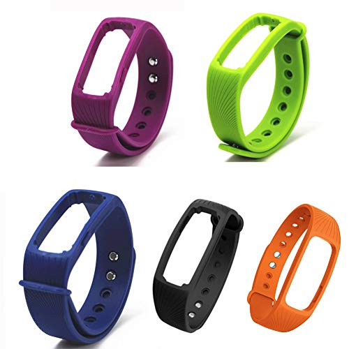 Fitness Tracker cardiofrequenzimetro cinturino per IPRO ID107 Smart Watch Nero
