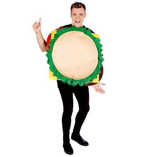 Fun Shack Herren Costume Kostüm, Cheeseburger, Einheitsgröße