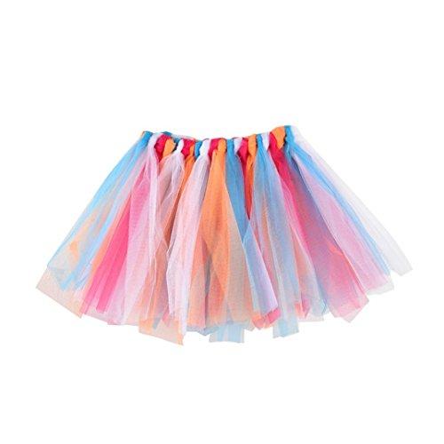 er Baby Tanz Fluffy Party Tutu Rock Pettiskirt Ballett Kostüm Unterkleid Petticoat Unterröcke Tanzkleid Kurz Tutu Rock Tüllrock Tütü Minirock Reifrock (F) (F Party Kostüm Ideen)
