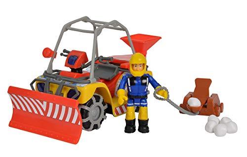 Simba 109251049 Feuerwehrmann Sam Mercury-Schnee- Quad mit Figur