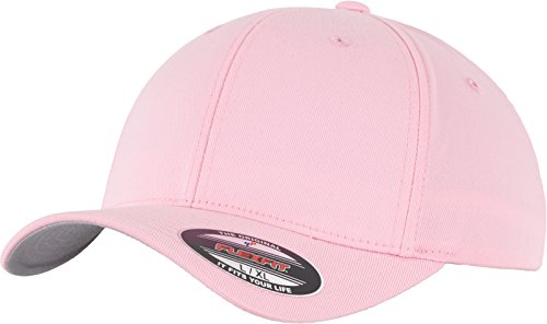 Flexfit 6277 Wooly Unisex Combed Cap, pink, Youth