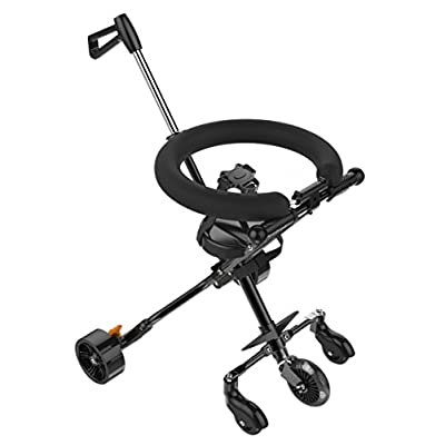Walk Diary Foldable Pushchair, Lightweight Portable Travel System Stroller Buggy for 2-8 Years Old, Black  Tutti Bambini
