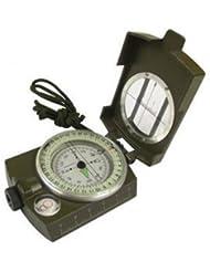 Tragbare Militärarmee Compass Outdoor Camping Exploration Werkzeug mit Neonlicht (Armee-Grün)
