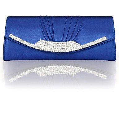 pwne L. In West Frauen'S Mode Seide Fach Diamond Abendessen Tasche Blue