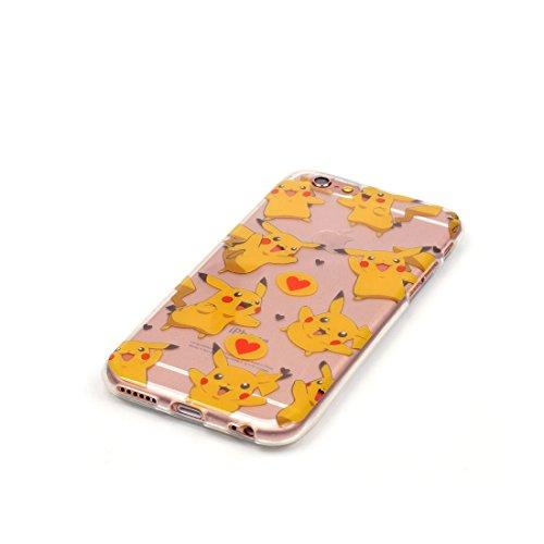 iPhone 6S Plus Custodia,Patate Testa del cranio Custodia in TPU Gel Ultra sottile [Trasparente] Custodia protettiva in gomma flessibile case cover para for iPhone 6 Plus / 6S Plus 5.5inch colour ,4
