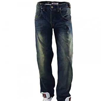 Levis - Jean - Homme - 503 Loose 0019 - Bleu Used Distressed - W29 L34