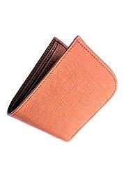 Genuine Leather Bi Fold Wallet for Men (Tan Curve)
