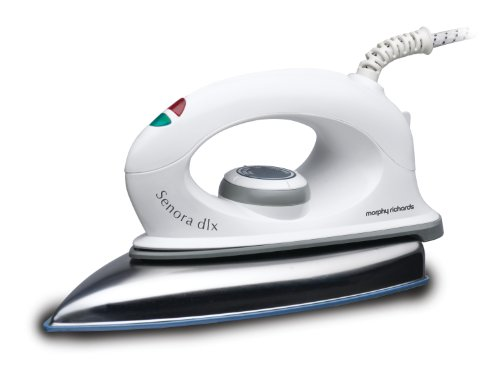 Morphy Richards Senora Dlx 1000-Watt Dry Iron (White)  available at amazon for Rs.899