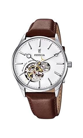 Festina Herren-Armbanduhr Analog Automatik Leder