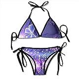 Color Butterfly Sexy Women Beach Swimwear Two Pieces Bathing Suit Bikini Top