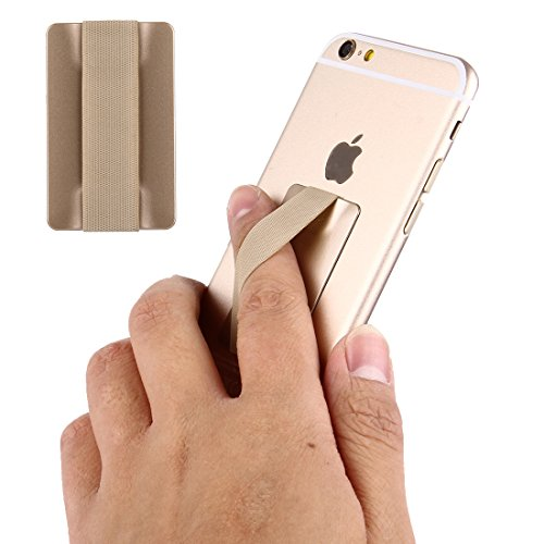 Price comparison product image Fone-Stuff Elastic Finger Grip,  ULTRA-THIN SERIES,  Mobile Phone,  iPhone and iPad Tablet Kindle Holder in Gold