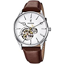 Festina F6846_1 - Reloj Esqueleto Para Hombre, color Blanco/Marrón