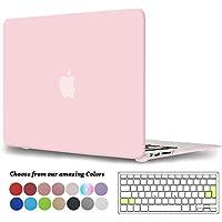 Tecool Funda MacBook Air 13 Pulgadas, [Ultra Slim Cubierta] Plástico Duro Case Carcasa con Tapa del Teclado para MacBook Air 13.3 Pulgada Modelo: A1466 and A1369(Cuarzo Rosa)