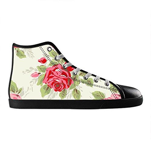 Dalliy Floral Flower Women's Canvas Shoes Lace-up High-top Footwear Sneakers Chaussures de toile Baskets E