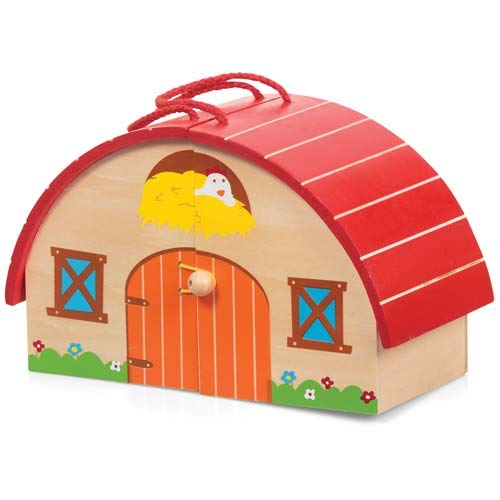 Tobar 20579 Wooden Farm PLAYSET, Multi