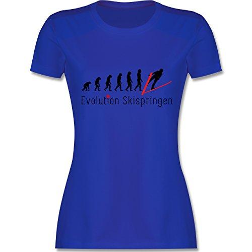 Evolution - Skispringen Evolution - tailliertes Premium T-Shirt mit Rundhalsausschnitt für Damen Royalblau