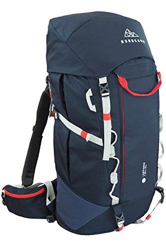 NORDKAMM – Zaino 50 l – 60 litri, Zaino da trekking, viaggio, campeggio, escursionismo, outdoor, backpacker, per donna e uomo, leggero, solo 1,7 kg, regolabile