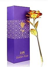 Gifts Golden Rose Flower Gold Rose Artificial Flower