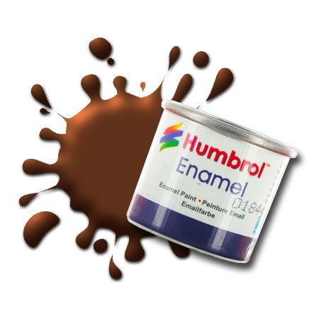 Humbrol 14 ML N ° 1 Tinlet Peinture é Mail 160 (German Cam Rouge/Marron Mat)