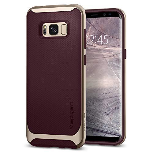 Spigen 565CS21597 Neo Hybrid für Samsung Galaxy S8 Hülle, Zweiteilige Handyhülle Modische Muster Silikon und PC Rahmen Schutzhülle Case Burgundy