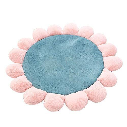 BELUPAI Coussin de sol en forme de fleur pour regarder la télévision, lire les nuits, chambre à coucher 60 cm Green+pink