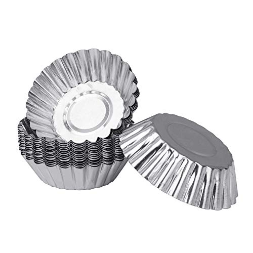 Aluminio Huevo Tarta Fabricantes de Molde Repostería Cupcake Cake Molde de Tarta Latas Para Hornear Herramienta 20 Piezas