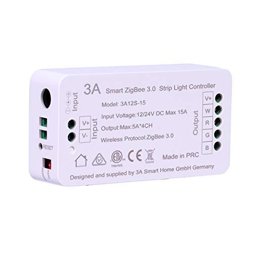 ZigBee RGBW RGB Streifen Lichtschalter Controller für Echo Plus Lightify Alexa Sprachsteuerung Smartphone APP Steuerung Einfarbige Streifen...